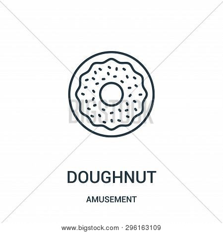 Doughnut Icon Isolated On White Background From Amusement Collection. Doughnut Icon Trendy And Moder