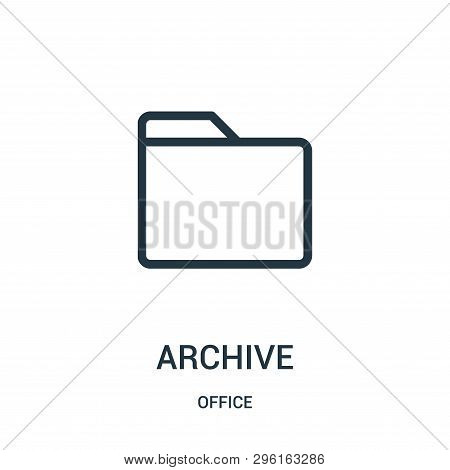 Archive Icon Isolated On White Background From Office Collection. Archive Icon Trendy And Modern Arc