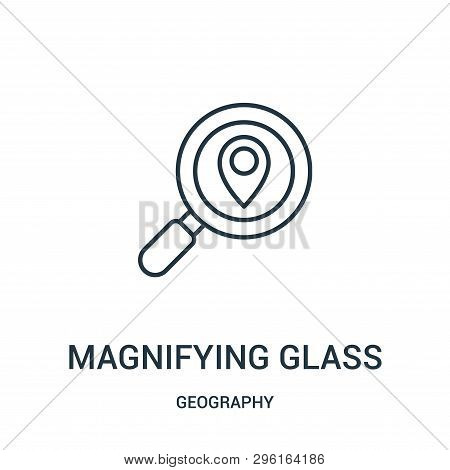 Magnifying Glass Icon Isolated On White Background From Geography Collection. Magnifying Glass Icon
