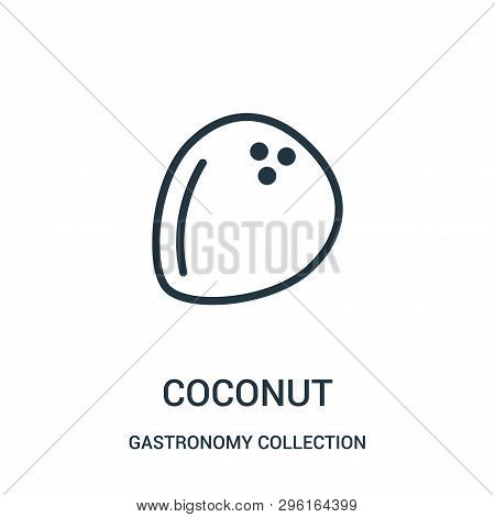 Coconut Icon Isolated On White Background From Gastronomy Collection. Coconut Icon Trendy And Modern