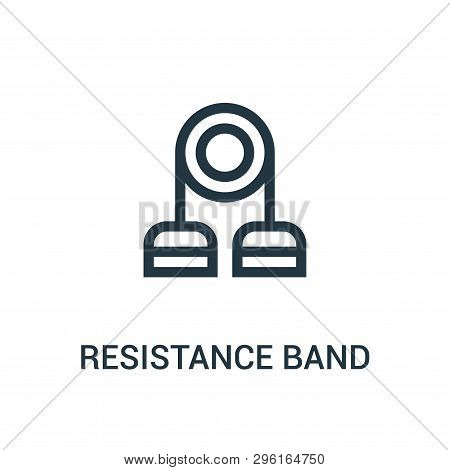 Resistance Band Icon Isolated On White Background From Gym Collection. Resistance Band Icon Trendy A