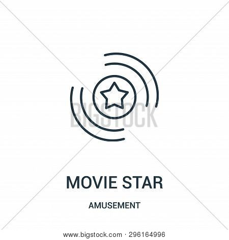 Movie Star Icon Isolated On White Background From Amusement Collection. Movie Star Icon Trendy And M