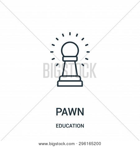 Pawn Icon Isolated On White Background From Education Collection. Pawn Icon Trendy And Modern Pawn S