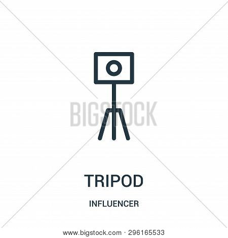 Tripod Icon Isolated On White Background From Influencer Collection. Tripod Icon Trendy And Modern T