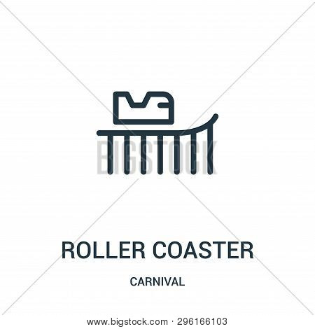Roller Coaster Icon Isolated On White Background From Carnival Collection. Roller Coaster Icon Trend