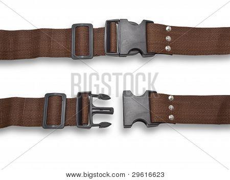 Belt Fastened And Rastegnut