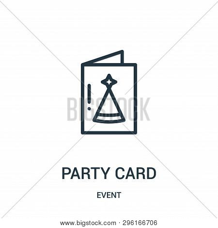 Party Card Icon Isolated On White Background From Event Collection. Party Card Icon Trendy And Moder