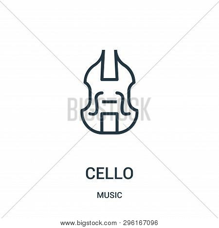 Cello Icon Isolated On White Background From Music Collection. Cello Icon Trendy And Modern Cello Sy