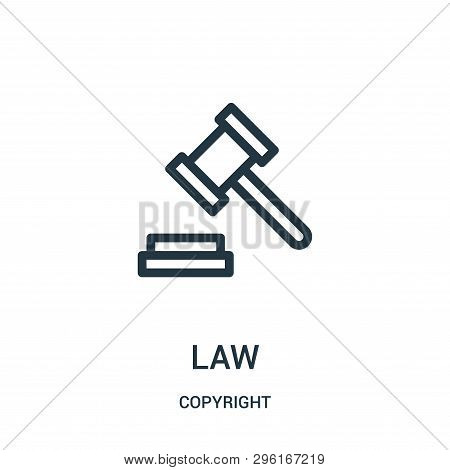 Law Icon Isolated On White Background From Copyright Collection. Law Icon Trendy And Modern Law Symb