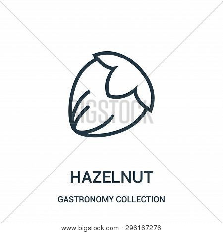 Hazelnut Icon Isolated On White Background From Gastronomy Collection. Hazelnut Icon Trendy And Mode