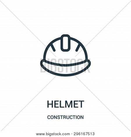 Helmet Icon Isolated On White Background From Construction Collection. Helmet Icon Trendy And Modern