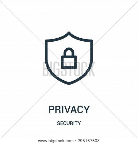 Privacy Icon Isolated On White Background From Security Collection. Privacy Icon Trendy And Modern P