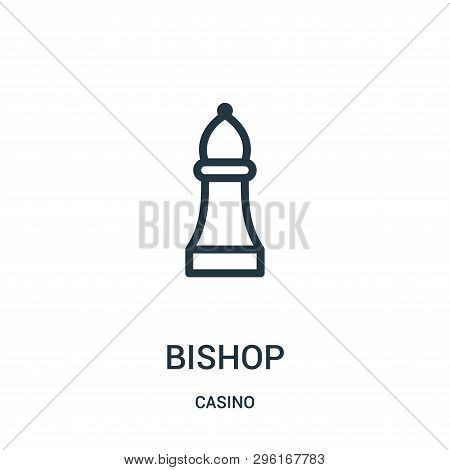 Bishop Icon Isolated On White Background From Casino Collection. Bishop Icon Trendy And Modern Bisho