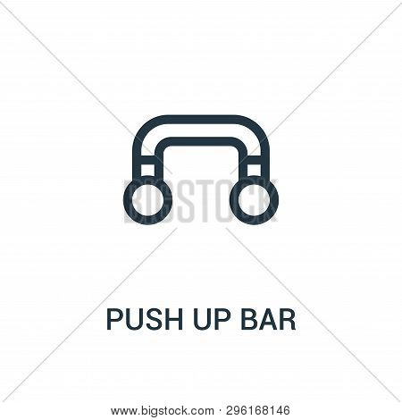 Push Up Bar Icon Isolated On White Background From Gym Collection. Push Up Bar Icon Trendy And Moder