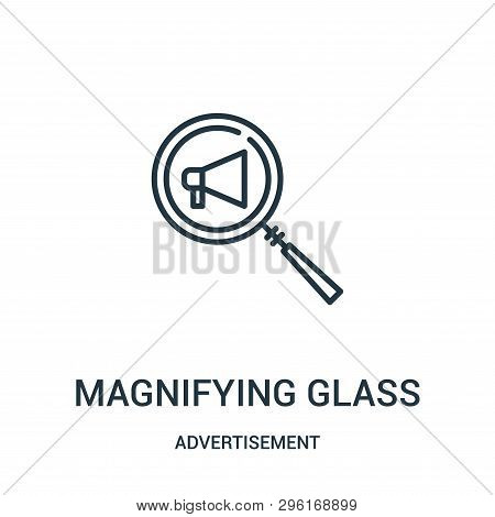 Magnifying Glass Icon Isolated On White Background From Advertisement Collection. Magnifying Glass I