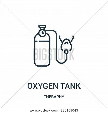 Oxygen Tank Icon Isolated On White Background From Theraphy Collection. Oxygen Tank Icon Trendy And