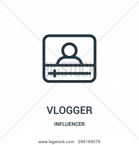 Vlogger Icon Isolated On White Background From Influencer Collection. Vlogger Icon Trendy And Modern