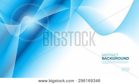 Blue Wave Background, Abstract Texture, Cover Design, Geometric Vector, Graphic, Minimal, Flyer Temp
