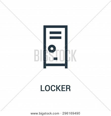 Locker Icon Isolated On White Background From Gym Collection. Locker Icon Trendy And Modern Locker S