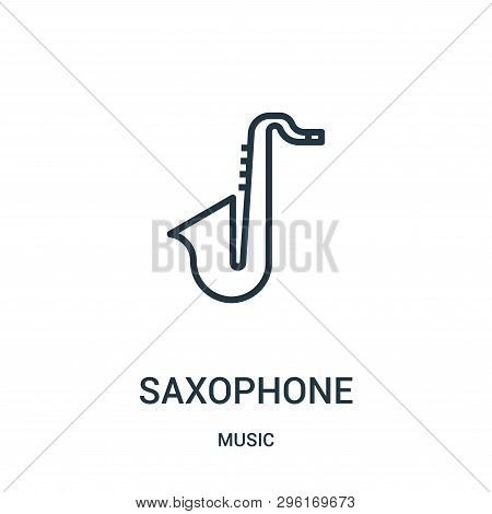 Saxophone Icon Isolated On White Background From Music Collection. Saxophone Icon Trendy And Modern