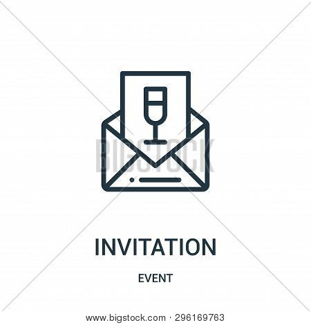 Invitation Icon Isolated On White Background From Event Collection. Invitation Icon Trendy And Moder