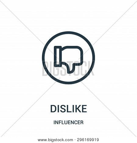 Dislike Icon Isolated On White Background From Influencer Collection. Dislike Icon Trendy And Modern