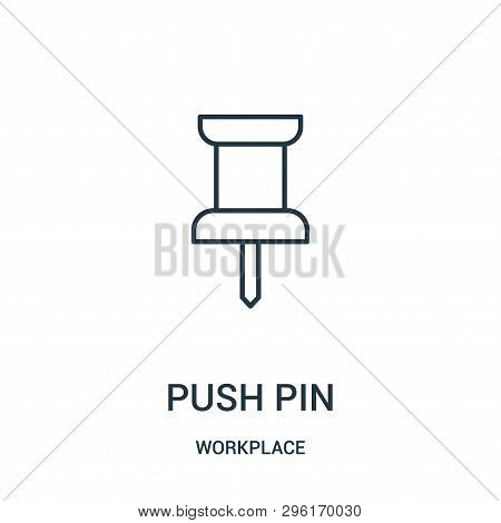 Push Pin Icon Isolated On White Background From Workplace Collection. Push Pin Icon Trendy And Moder