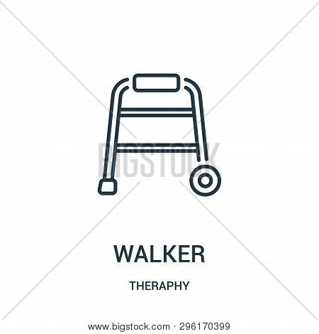 Walker Icon Isolated On White Background From Theraphy Collection. Walker Icon Trendy And Modern Wal