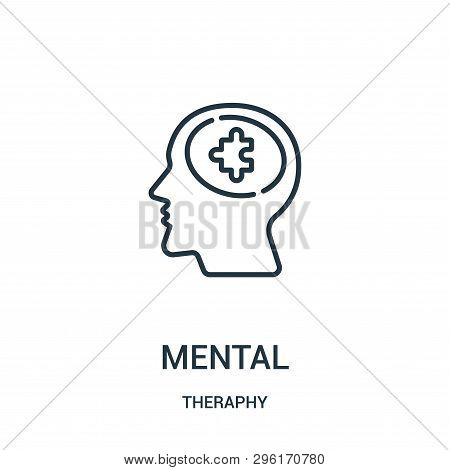 mental icon isolated on white background from theraphy collection. mental icon trendy and modern mental symbol for logo, web, app, UI. mental icon simple sign. mental icon flat vector illustration for graphic and web design. poster