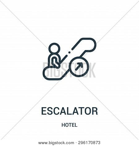 Escalator Icon Isolated On White Background From Hotel Collection. Escalator Icon Trendy And Modern
