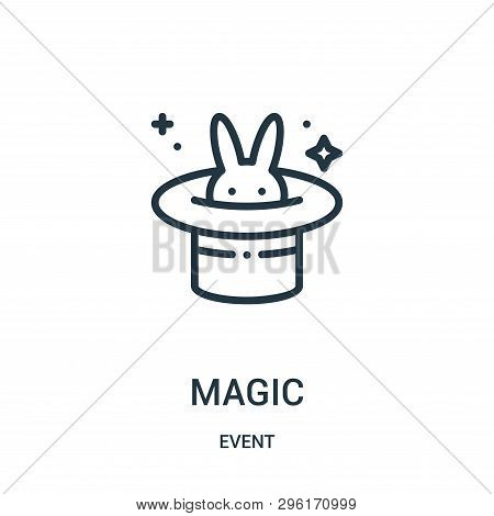 Magic Icon Isolated On White Background From Event Collection. Magic Icon Trendy And Modern Magic Sy