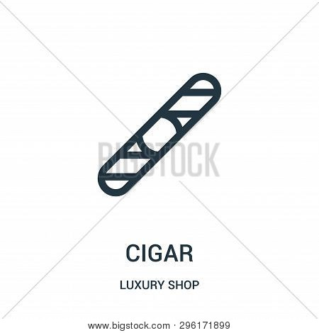 Cigar Icon Isolated On White Background From Luxury Shop Collection. Cigar Icon Trendy And Modern Ci
