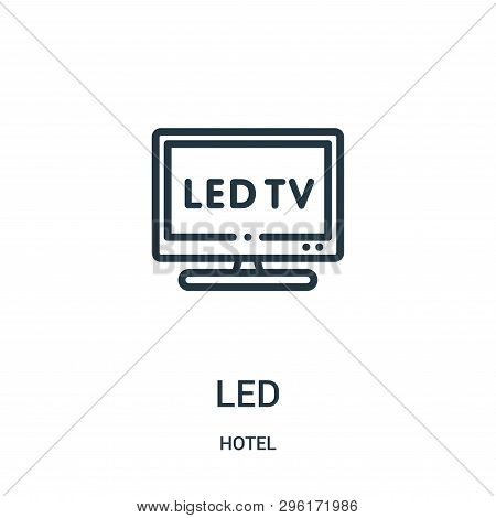 Led Icon Isolated On White Background From Hotel Collection. Led Icon Trendy And Modern Led Symbol F