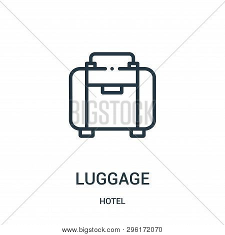 Luggage Icon Isolated On White Background From Hotel Collection. Luggage Icon Trendy And Modern Lugg