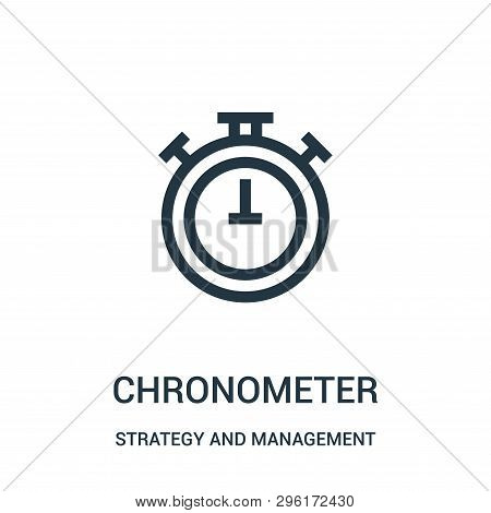 Chronometer Icon Isolated On White Background From Strategy And Management Collection. Chronometer I