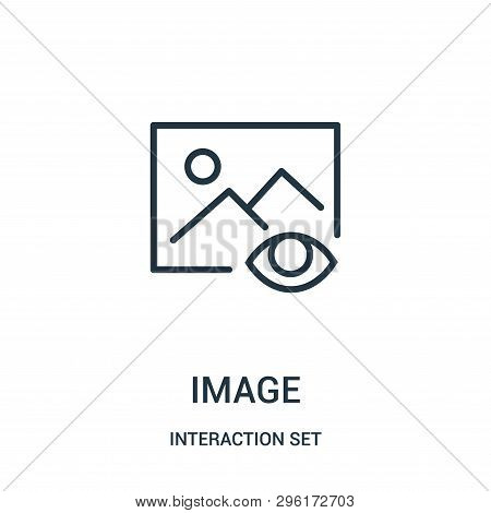 Image Icon Isolated On White Background From Interaction Set Collection. Image Icon Trendy And Moder