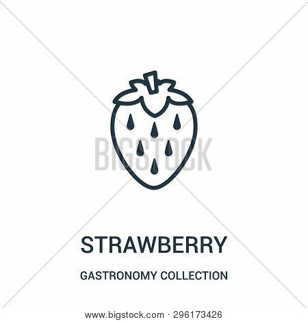 Strawberry Icon Isolated On White Background From Gastronomy Collection. Strawberry Icon Trendy And