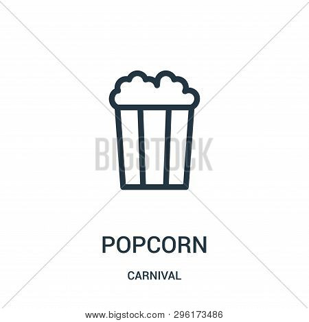 Popcorn Icon Isolated On White Background From Carnival Collection. Popcorn Icon Trendy And Modern P