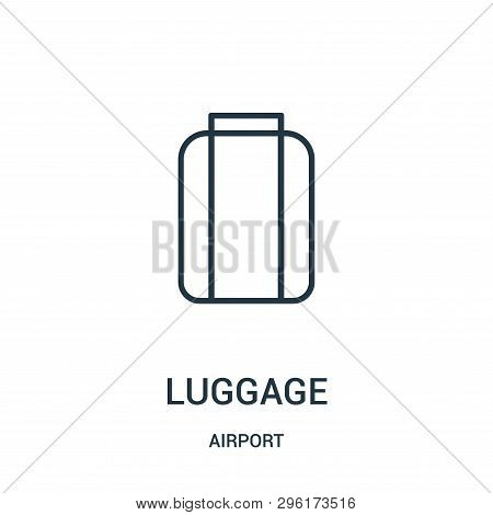 Luggage Icon Isolated On White Background From Airport Collection. Luggage Icon Trendy And Modern Lu