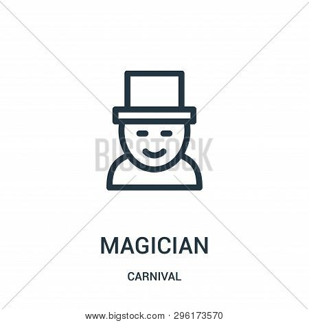 Magician Icon Isolated On White Background From Carnival Collection. Magician Icon Trendy And Modern