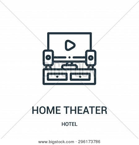 Home Theater Icon Isolated On White Background From Hotel Collection. Home Theater Icon Trendy And M