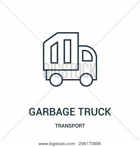 Garbage Truck Icon Isolated On White Background From Transport Collection. Garbage Truck Icon Trendy