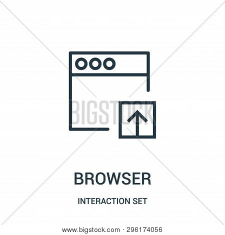 Browser Icon Isolated On White Background From Interaction Set Collection. Browser Icon Trendy And M