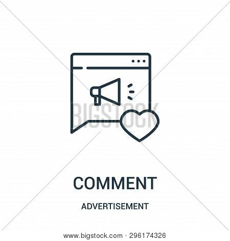 Comment Icon Isolated On White Background From Advertisement Collection. Comment Icon Trendy And Mod