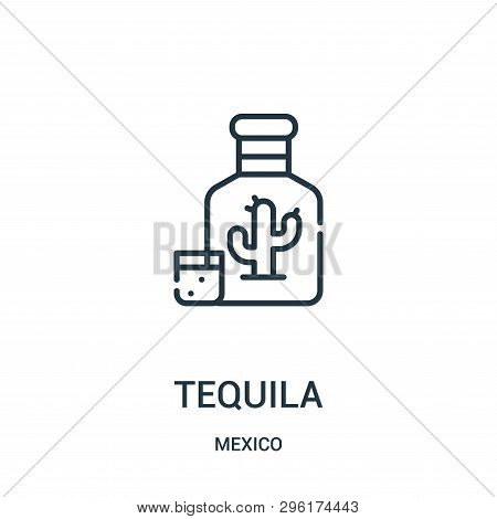 Tequila Icon Isolated On White Background From Mexico Collection. Tequila Icon Trendy And Modern Teq