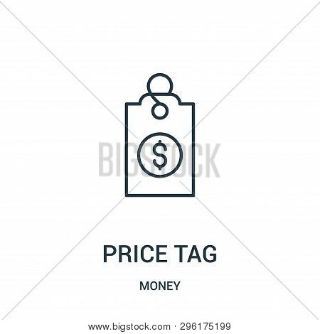 Price Tag Icon Isolated On White Background From Money Collection. Price Tag Icon Trendy And Modern