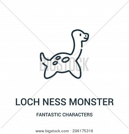 Loch Ness Monster Icon Isolated On White Background From Fantastic Characters Collection. Loch Ness