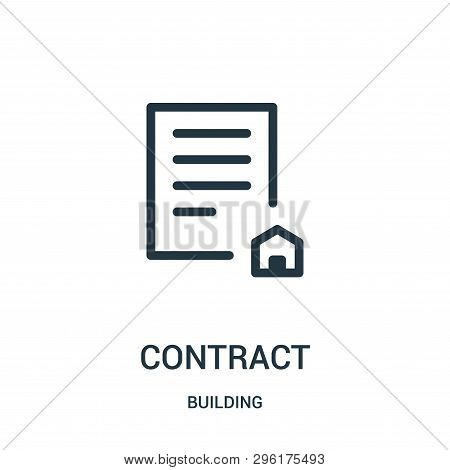 Contract Icon Isolated On White Background From Building Collection. Contract Icon Trendy And Modern
