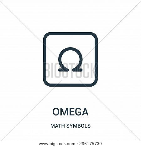 Omega Icon Isolated On White Background From Math Symbols Collection. Omega Icon Trendy And Modern O