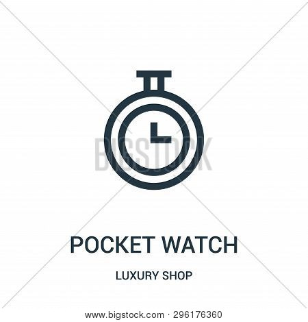 Pocket Watch Icon Isolated On White Background From Luxury Shop Collection. Pocket Watch Icon Trendy